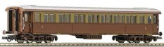 Пътнически вагон - Първа и втора класа - ЖП модел - макет
