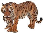 Тигрица с малко тигърче - Фигура от серията Диви животни - фигура