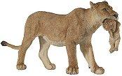 Лъвица с малко лъвче - Фигура от серията Диви животни - фигура