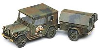 Военен джип с ремарке - M151A2 - Сглобяем модел -