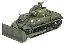 Танк с гаубица и булдозер - M4A3 Sherman - Сглобяем модел - макет