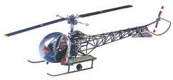 Военен хеликоптер - MSH H-13 Sioux - Сглобяем авиомодел -