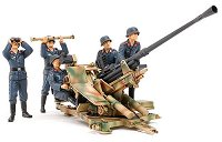 Немски войници и противовъздушно оръдие - Комплект сглобяеми фигури - макет