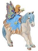 Малка синя фея с пони - аксесоар