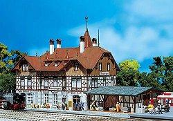 ЖП гара - Trossingen station - Сглобяем модел -