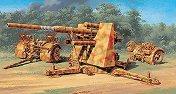 Зенитно и противотанково артилерийско оръдие - Flak 37 AA Gun - Сглобяем модел -