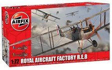 Военен самолет - Royal Aircraft Factory R.E.8 - Сглобяем авиомодел - макет