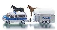 Полицейски бус с ремарке за коне - играчка