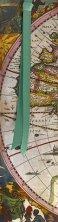 Разделител за книга - Антична карта на света - Henricus Hondius -