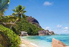 Тропически плаж, Сейшелски острови -