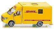 """Пощенски бус - Mercedes Sprinter: DHL - Метална количка от серията """"Super: Transporters & Loaders"""" - играчка"""
