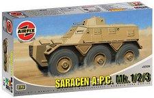 Британски бронетранспортьор - Saracen A.P.C. Mk.1/2/3 - Сглобяем модел -