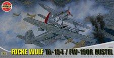 Военен самолет - Focke Wulf TA-154 / FW-190A Mistel - Сглобяем авиомодел - макет