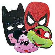 Комплект карнавални маски - Парти аксесоари - продукт