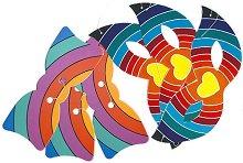 Комплект карнавални домина и папионки - модел 1 - Парти аксесоари - играчка