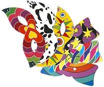 Комплект карнавални домина и папионки - модел 2 - Парти аксесоари - играчка