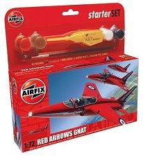 Военен самолет - Red Arrows Gnat - Сглобяем авиомодел - макет