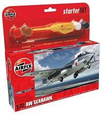 Военен самолет - AW Seahawk - Сглобяем авиомодел -