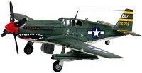Военен изтребител - P-51B Mustang - Сглобяем авиомодел - макет