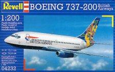 Пътнически самолет - Боинг 737-200 British Airways - Сглобяем авиомодел -