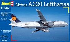 Пътнически самолет - Airbus A320 Lufthansa - Сглобяем авиомодел -