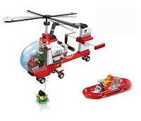 Хеликоптер и лодка - Детски конструктор -