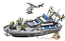 Полицейска лодка и хеликоптер - Детски конструктор -