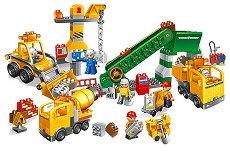 Строителна площадка - Детски конструктор с големи елементи - играчка