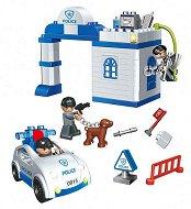 Полицейско управление - Детски конструктор с големи елементи в пластмасова кутия - играчка