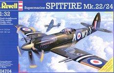 Военен самолет - Supermarine Spitfire Mk.22/24 - Сглобяем авиомодел -
