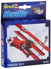 Военен самолет - Fokker Dr. I - Сглобяем авиомодел - макет