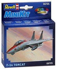 Военен изтребител - F-14 Tomcat - Сглобяем авиомодел -