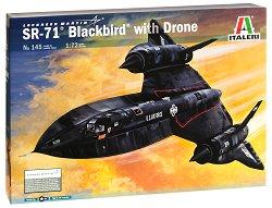 Военен самолет с дрон - SR-71 Blackbird - макет