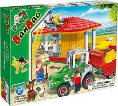 Ферма и трактор с ремарке - Детски конструктор - творчески комплект