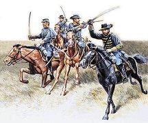 Войници от съюзническата кавалерия - Комплект сглобяеми фигури -