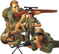 Войници от I.D.F. съвременна пехотна войска - макет