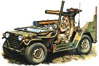 Военен джип с ракетоносач - M151A2 Tow Missile Launcher - Сглобяем модел -