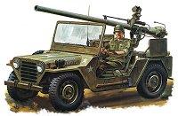 Военен джип с безоткатно оръдие - M151A1 - Сглобяем модел -