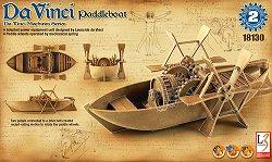 Da Vinci - Лодка с водни колела - Сглобяем модел -