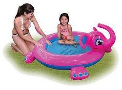 Детски басейн с пръскалка - Слон - Надуваема играчка - играчка