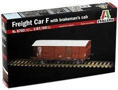 Товарен вагон - Freight Car F - ЖП сглобяем модел -