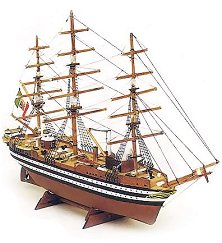 Барк - Amerigo Vespucci - Сглобяем модел от дърво - макет