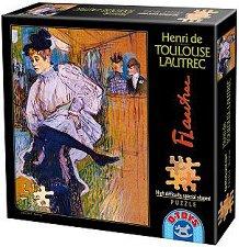 Танцът на Джейн Аврил - Анри дьо Тулуз-Лотрек (Henri Marie Raymond de Toulouse-Lautrec-Monfa) - пъзел