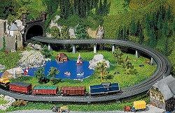 ЖП мост с подпори - Сглобяем модел - макет