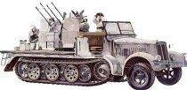 Военен полуверижен камион - German 8T Half Track Sdkfz 7/1 - Сглобяем модел -