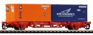 Товарен вагон с два контейнера - Lgs 579 -