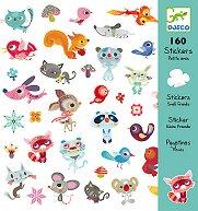Комплект стикери за декорация - Малки животни