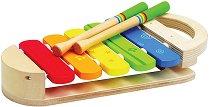 Шарен ксилофон - Детски музикален инструмент от дърво -