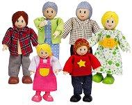 Семейство дървени кукли - Бяла раса - играчка