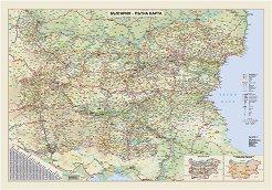 Стенна карта: България - пътна карта - М 1:400 000 -